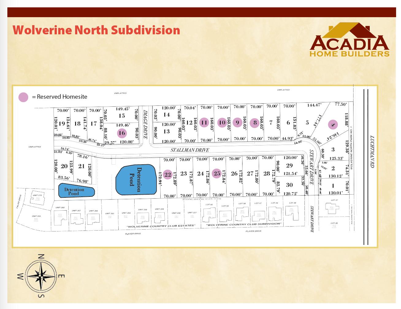 Wolverine North Site Map